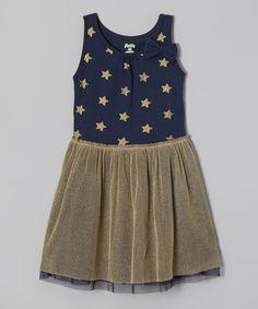 Loving this Blue Star Babydoll Dress - Toddler & Girls on #zulily! #zulilyfinds
