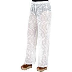 b1da299a081 Catalina - Women s Plus-Size Crochet Pull-On Pants Swim Cover-Up - Walmart. com