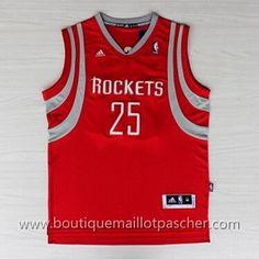 maillot nba pas cher Houston Rockets Parsons #25 Rouge nouveaux tissu 22,99€