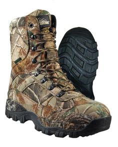Youth Boys Realtree Xtra Hiking Boots Size 5 Brown Camouflage Shoes Rugged Hunt