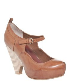 Look at this #zulilyfind! Tan Niko Leather Mary Jane Pump by Maxstudio.com #zulilyfinds