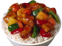 Sweet and Sour Chicken. Flour worked, used apricot jam and more brown sugar instead of pineapple juice.