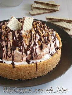 Torta fredda con wafer panna e Nutella | ricetta senza forno