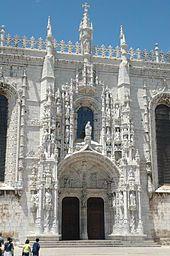 Jeronimos Monastery near Lisbon. Greatest example of Maneuline architecture ever