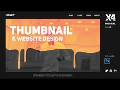 Photoshop Tutorial: Thumbnail Design & Website design by Swerve™ - YouTube