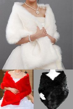 New Fashion Red Black Faux Fur Wedding Bridal Wrap Woman Shawl Cape In Stock Winter Bridal Wraps Bridal Accessories J1028 Online with $18.85/Piece on Caradress's Store | DHgate.com