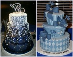Denim and Diamond Party Cakes Ideas