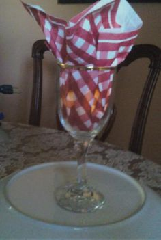 Love the napkin in the glass