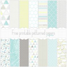 Love Graphics - free printable digital patterned paper set PREVIEW small 590px | Flickr - Photo Sharing!