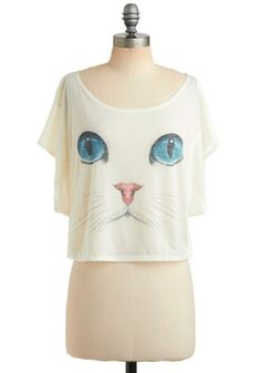 I Want It Meow Top | Mod Retro Vintage Short Sleeve Shirts | ModCloth.com - StyleSays