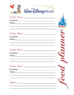 .Disney Binder Page