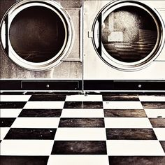 I love checkerboard floors. Even dirty ones in laundromats.