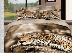 Resting Leopard Bedding set    http://www.dhgate.com/2013-new-3d-leopard-printed-bedding-set-alimal/p-ff8080813d47f812013d5937907d347c.html