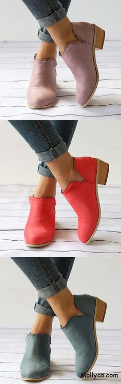 Buy 2 Got OFF Code: mollyca Women's Daily Comfortable Suede Chunky Heel Boots Love Fashion, Fashion Shoes, Fashion Outfits, Womens Fashion, Cute Shoes, Me Too Shoes, Fall Outfits, Cute Outfits, Costume