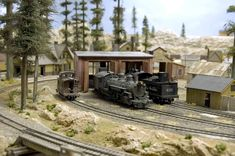 MODEL RAILROAD ENGINE HOUSE IMAGES | Sn3 Model Railroad Articles