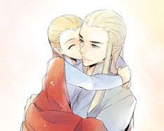 "Thranduil and little Legolas from ""The Hobbit"" - Art by BYA"