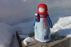Купить Кукла народная Мамушка Яркая - синий, индиго, красный, синий красный, мама, мамушка