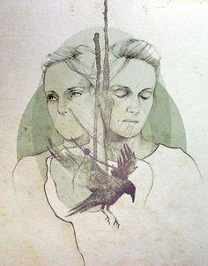Agnes Obel by elia, illustration--- Elia Mervi Illustration
