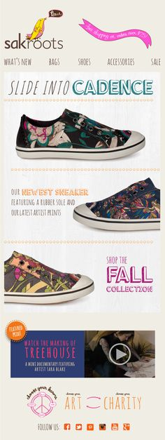 Slide into Cadence! Our newest #sneaker featuring a rubber sole and our latest #artist #prints. Shop the #Fall Collection.