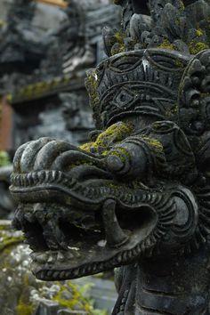 Stone carvings in Besakih Temple, Bali