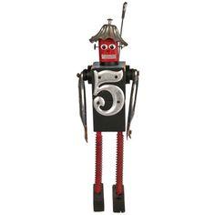 Folk Art Robot #847 Fin now featured on Fab.