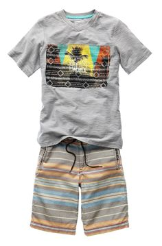 arizona boys board shorts and tshirt