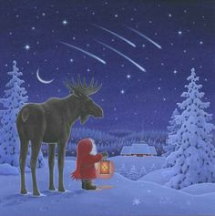 Anther meteor shower - gnome watching with .. moose(?)