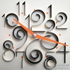 DIY paper wall clock by triologia.de.gostos
