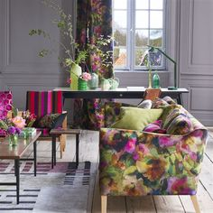 Surimono Berry Fabric | Designers Guild Rather in love with this fabric...