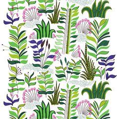 'Kauriin kääntöpiiri' fabric from Marimekko Motifs Textiles, Textile Patterns, Textile Design, Fabric Design, Pattern Fabric, Pretty Patterns, Color Patterns, Vintage Patterns, Marimekko Fabric