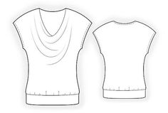 4119 PDF Sewing Pattern for Blouse Personalized for by TipTopFit, $2.49