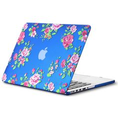 """Kuzy - Retina 13-inch Vintage Flowers BLUE Rubberized Hard Case for MacBook Pro 13.3"""" with Retina Display A1502 / A1425 (NEWEST VERSION) Shell Cover - Vintage Flowers Blue"""