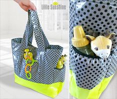 Little Sunshine Laminated Diaper Tote | Sew4Home