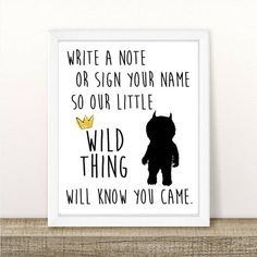 Where the Wild Things Are Guest Book Sign, Baby Shower, Wild One Birthday Party, First Birthday, Printable, INSTANT DOWNLOAD, 8.5x11 by BeHereNowDesign on Etsy https://www.etsy.com/listing/498107977/where-the-wild-things-are-guest-book