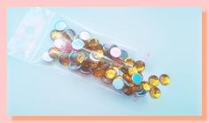 sachet 8 gr cabochon demi perles à coller strass synthétique 6 mm doré : Cabochons, demi-perles par chely-s-creation
