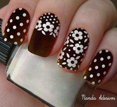 Uñas Cute Acrylic Nails, Acrylic Nail Designs, Nail Art Designs, Daisy Nails, Flower Nails, Stylish Nails, Trendy Nails, Nagel Hacks, Fabulous Nails
