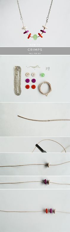 How to Space Beads with Crimps - DIY Tutorial