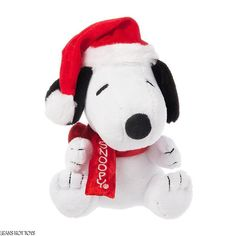 Peanuts Musical Christmas Snoopy Plush Toy Linus & Lucy Song NWT #DanDee