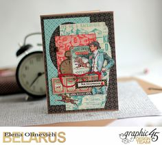 Masculine Valentine Cards, Off to the Races, by Elena Olinevich, product by Graphic45, photo3