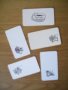 Stamped, rounded corners