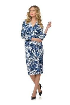 Rochie din bumbac cu imprimeu RN137 -  Ama Fashion Dresses For Work, Floral, Fashion, Moda, Fashion Styles, Flowers, Fashion Illustrations, Flower