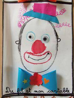 Thème du cirque ... Une inspiration prise à l'aide du Hérisson de Marie Kuklova ou le Dada de l'enfant Terrible (clic ICI ) ...