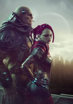 Just this last job Picture  (3d, sci-fi, girl, city, thug, portrait)