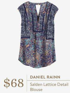 Stitch fix Daniel Rainn Salden Lattice Detail Blouse