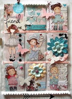 Pocket Letters ❤ Arts by Tini: My Pocket Letters Pocket Pal, Pocket Cards, Cool Paper Crafts, Scrapbook Paper Crafts, Atc Cards, Card Tags, Scrapbook Journal, Scrapbook Supplies, Snail Mail Pen Pals