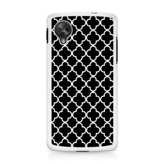 Black And White Quatrefoil Pattern Nexus 5 Case
