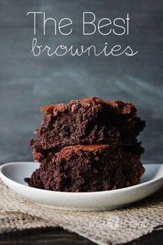 Fudgy Homemade BROWNIES