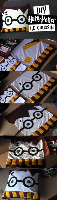 DIY #1 - Le coussin Harry Potter | Tutoriel