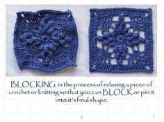 Spray Blocking Crochet Tutorial. ♥