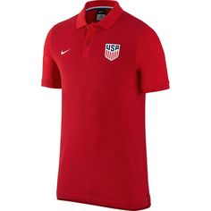 US Soccer Nike Authentic Slim Fit Polo - Red - $59.99
